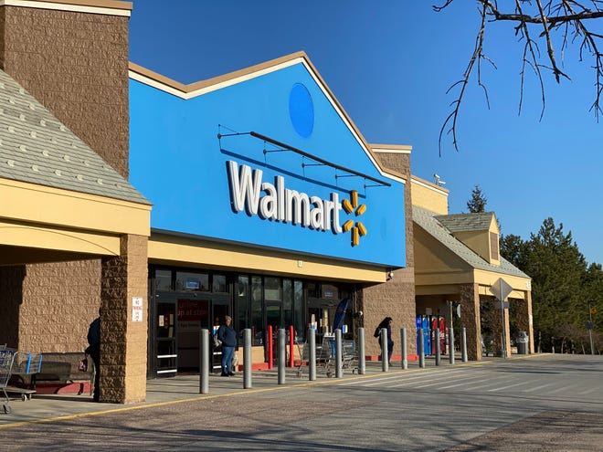 Wal-Mart in Williston is one of the box stores closing off non-essential sections of its store to comply with governor's order to not offer non-essential goods. April 1, 2020.