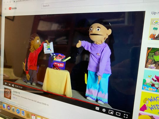 Puppets can help young children deal with anxiety stemming from COVID-19. The Vermont Family Network's Puppets in Education team created a puppet show video as a resource families can view online. Photo April 1, 2020.