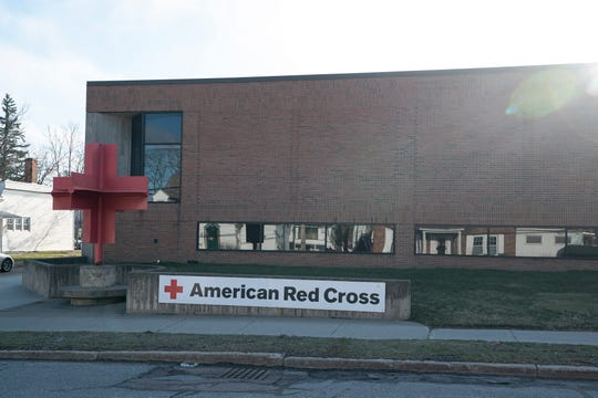 The Burlington Blood Donation Center, located at the American Red Cross, on April 1, 2020.