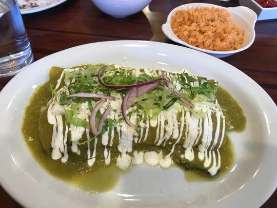 Enchiladas Verde from El Nopalito in Haddonfield.