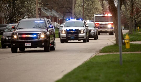 Elijah Daft turned five Tuesday, March 31, 2020 with a parade of Blue Ash police and fire down his street. Blue Ash Police Chief Scott Noel, in the lead vehicle, offered the parade of lights and sirens to children who have birthdays but can't celebrate as they normally would. His Facebook post garnered over 600 responses. He also offered them an ice cream after the new coronavirus pandemic ends.
