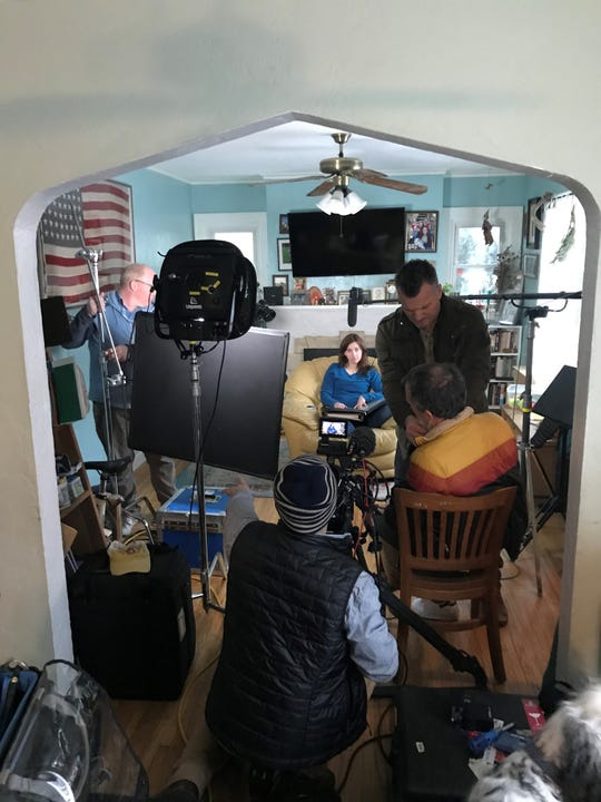 "Barbara Fisher sits in her living room as the documentary crew from ""Tiger King"" sets up equipment. Fisher talks about her experience working for ""Doc"" Antle at Myrtle Beach Safari from 1999 to 2007 in episode two of the documentary."