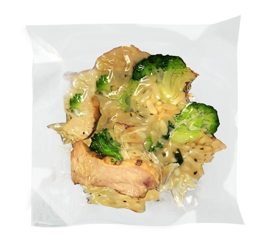Grilled Chicken with Broccoli over Rice is one of the new pouch meals from Clean Planet Foods in Royal Oak.