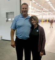 Jack and Annette Aronson at the opening of Great Lakes HPP Innovation Food Center  in Taylor.