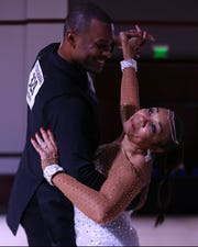Detroit dance instructor Sherrad Glosson, left, has watched as the urban ballroom dance community has been ravaged by the coronavirus outbreak.