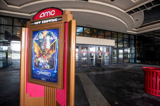 The AMC Star Southfield 20 movie theater is closed due to the coronavirus outbreak and will not reopen. A notice of the permanent closure is posted on the front door.