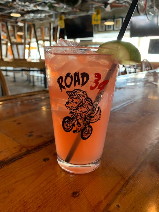 Road 34 is now offering cocktails on takeout orders, including this strawberry margarita.