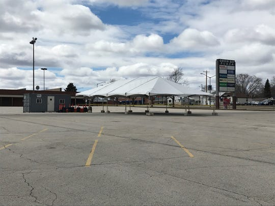 Brown County's Health and Human Services Department has set up a drive-up collection point in the Green Bay Plaza parking lot south of West Mason Street and east of Military Avenue. The collection point would only be activated if there is a major surge in COVID-19 cases that increases the need to collect samples for testing.