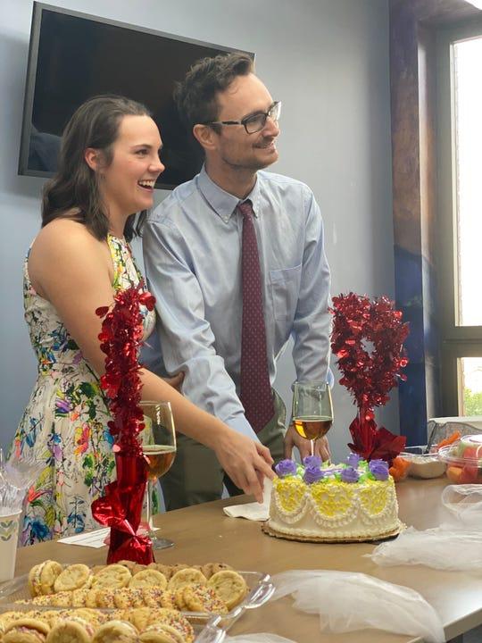 Bon Secours St. Francis Downtown nurses threw a wedding for David Lee Nelson and Jaimie Malphrus, amid the coronavirus outbreak.