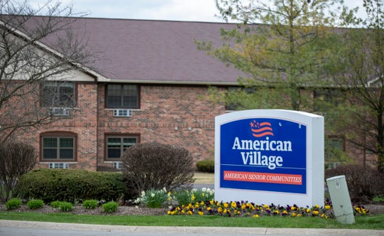 American Village Senior Communities, Indianapolis, Wednesday, April 1, 2020. The facility, which is open to car and pedestrian traffic, has reportedly had COVID-19 cases.