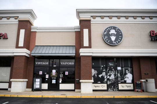 Marble City Ale House had their grand opening Feb. 29 on Jack Dance Street off Kingston Pike, as seen Wednesday, April 1, 2020. The bar has had to modify their business because of coronavirus restrictions.