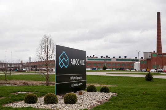 Arconic Lafayette Operations, Tuesday, March 31, 2020 in Lafayette.