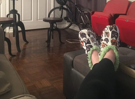 Maggie Menderski received the most ridiculous pair of house shoes as a birthday gift.