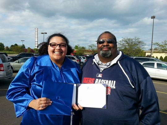 Tanisha Thompson and her father, James.
