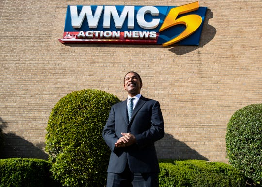 WMC-TV sportscaster Jarvis Greer in Memphis, Tenn., on Tuesday, March 31, 2020.