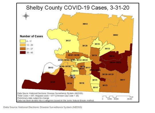 Shelby County COVID-19 cases: March 31, 2020