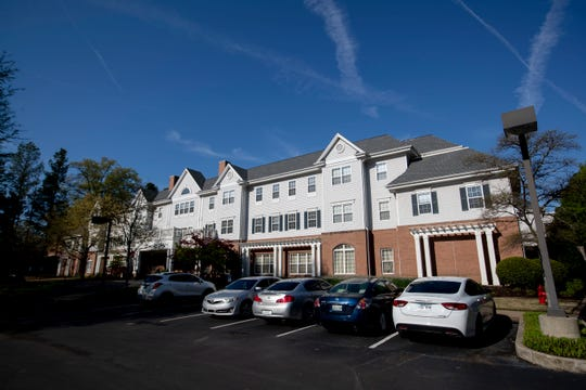 Carriage Court of Memphis, an assisted living facility where there has been an outbreak of the coronavirus.