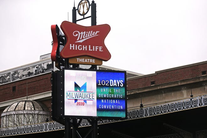 Miller High Life Theatre continues on Wednesday to count down the days until the Democratic National Convention even though other major events have either canceled or postponed their engagements due to the coronavirus pandemic. The DNC is scheduled for mid-July in Milwaukee.