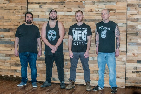 From left, the members of Hey Dollface are Eric Hohen, Damon Plastärd Delmont, Shawn Jamison and Chase Bonds.