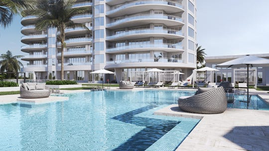 Ronto Group announced that only two private poolside cabanas remain available for purchase at Omega in Bonita Bay.