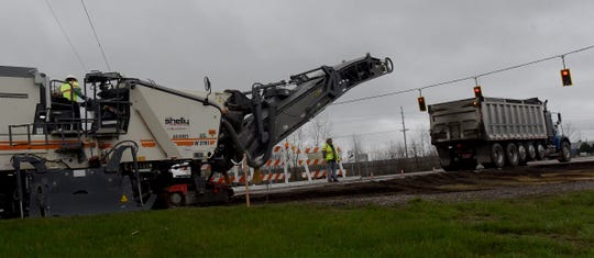 After four years of delays, the paving of two miles of O'Neill and Enterprise drives in the Newark Industrial Park finally began on April Fools Day 2020.