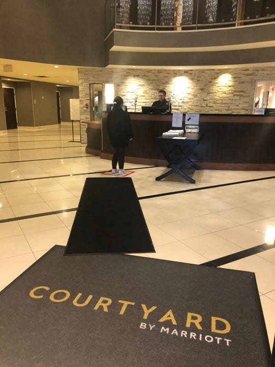 Courtyard Marriott in Montvale social distancing practices