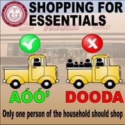 A graphic posted on the Navajo Nation President Jonathan Nez and Vice President Myron Lizer Facebook page shares the message to use precautionary measures for shopping.