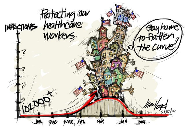 Mark Loyd of Palm Desert drew this editorial cartoon.