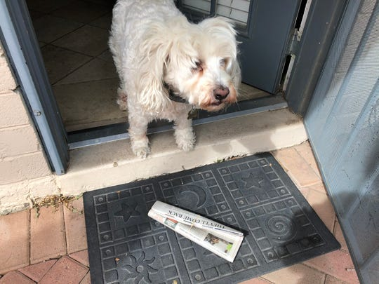 In general, the likelihood of an infected person contaminating commercial goods is low, according to the World Health Organization, including newspapers dropped on your driveway.