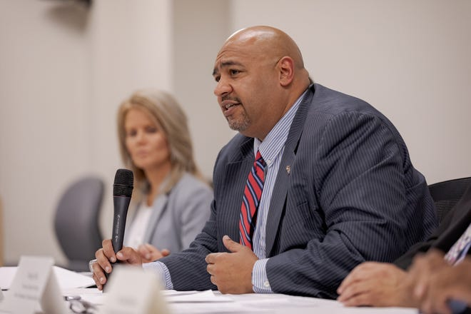 Secretary of Corrections John Wetzel discusses results of an internal review of parole cases that involved recent homicides or attempted homicides, during a press conference in Mechanicsburg on Wednesday, August 28, 2019.