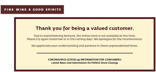FineWineAndGoodSpirits.com will allow a limited number of sales each day.