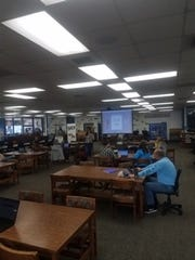 Anderson Union High School District teachers attending a workshop on using technology to teach online. Instruction in most Shasta County schools will be taking place virtually for much of the rest of the school year due to coronavirus-related shutdowns.