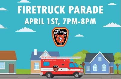 The first Sioux Falls firetruck parade is tonight.