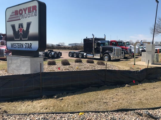 Crews have already started to move earth on a new $6.7 million facility for Boyer Trucks in northern Sioux Falls.