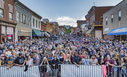 The city of Deadwood and its businesses are missing out on millions in revenue due to the COVID-19 pandemic that has led to alteration of events and closure of non-essential businesses, including casinos. The fate of future 2020 events, including the annual Wild Bill Days scheduled for June, shown here in 2019, remains to be determined.