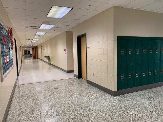 A hallway at Wilson Memorial High School in Fishersville.