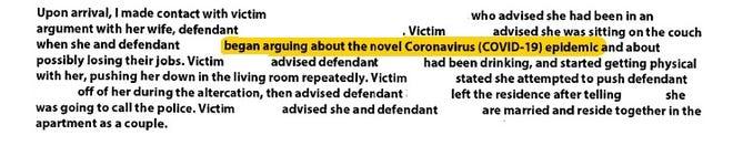 Excerpt of arrest affidavit
