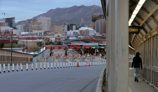 Recent restrictions limiting cross-border commuting to U.S. citizens and legal permanent residents has slowed a once bustling border crossing to a trickle between El Paso and Juarez. Border officers are checking identification at the top of the bridge in both the pedestrian and vehicle lanes. Avenida Juarez, normally packed with morning commuters was empty Wednesday morning.
