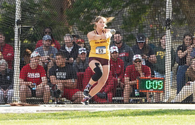 Arizona State redshirt senior Kaylee Antill competes in the hammer throw earlier this season. Antill, like many seniors, had their season cut short by the coronavirus pandemic. However, she is planning on taking advantage of the extra season the NCAA granted spring sports athletes recently.