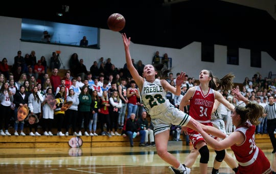 Green Bay Preble's Carley Duffney was the Fox River Classic Conference's player of the year. Ebony Cox/USA TODAY NETWORK-Wisconsin