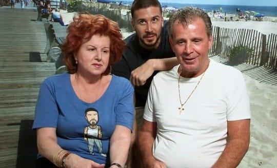 """Paola Guadagnino, Vinny Guadagnino and Nino Giaimo from MTV's """"Jersey Shore Family  Vacation."""""""