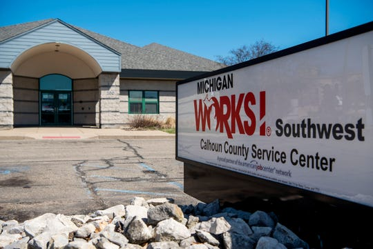 Michigan Works! Southwest Calhoun County Service Center is pictured on Thursday, April 2, 2020 in Battle Creek, Mich.