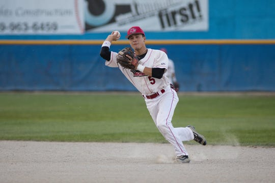 Former Lakeview standout and current infielder at Penn State Gavin Homer played second base for the Bombers during the 2017 Northwoods League  World Series.