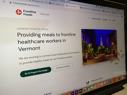 Frontline Foods Vermont provides meals to health care workers while supporting the local food industry. It hopes to launch service in the first week of April.
