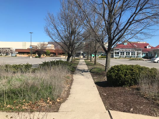 Cherry Hill Mall is largely deserted due to state-ordered measures to curb the coronavirus.