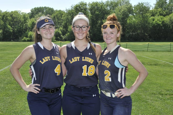 Gloucester seniors (left to right): Emilee Hillman, Vanesa Pino and Meghan Ferry.