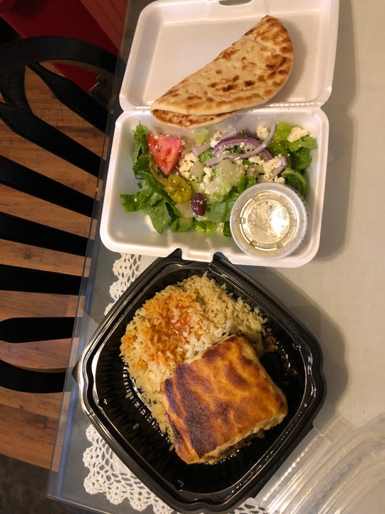 Greek food to go from Olympia Restaurant in Vineland.