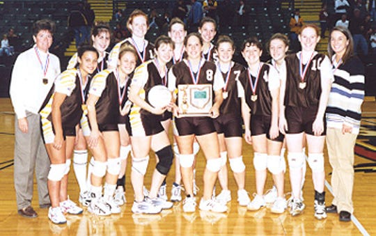 The Roger Bacon 2001 Division II state championship team. The players included (in no particular order), Holly Morgan, Jamie Gittinger, Emily Ceddia, Emily Withers, Maggie Goller, Brittney Holden, Frannie Knecht, Eryn Speed and Mary Brunner.