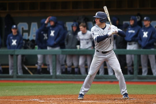 Xavier University senior baseball player Andrew Sexton digs in at the plate during the 2020 season which was canceled because of the novel coronavirus. The NCAA recently voted to give all spring sports athletes another year of eligibility.