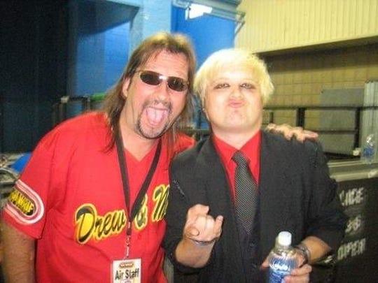 Screamin' Scott Randall, left, with local musician Derek Jendza.